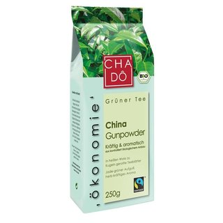 Cha Dô Fairtrade China Gunpowder - Bio - 250g