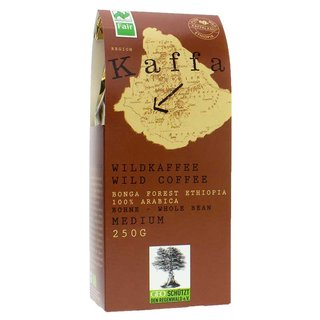 Kaffa Wildkaffee Medium ganze Bohne - Bio - 250g