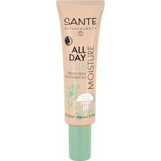 Sante All Day Moisture 24h Fresh Skin Foundation 01 ivory - 30ml