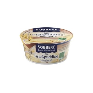Söbbeke Grießpudding Traditionell - Bio - 150g
