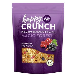 Davert Happy Crunch - Magic Forest - Wild Berry Buchweizen - Bio - 325g